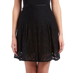 Tahari Black Lace Party Skirt